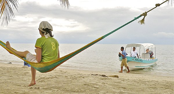 Guatemala: Entspannung an der Playa Blanca