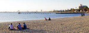 Der berühmte Strand St. Kilda