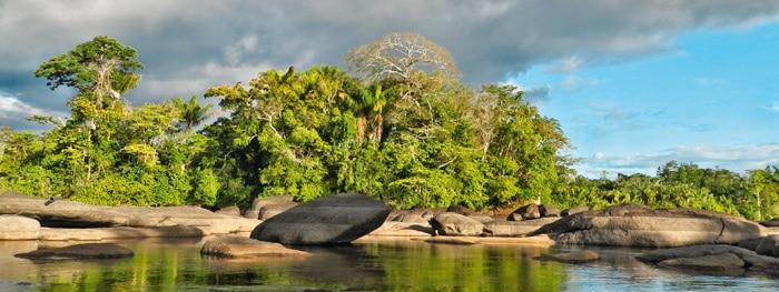 Die südamerikanische Stadt Paramaribo