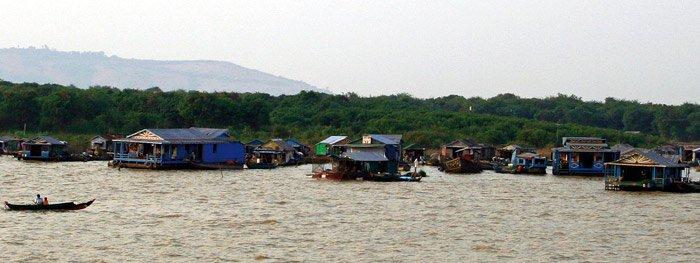 Die schwimmenden Dörfer auf dem Tonle-Sap-See