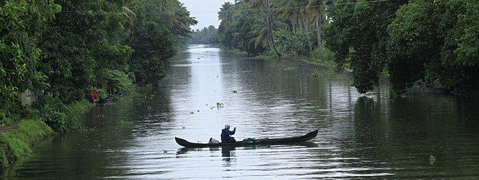 Der Fluss von Kerala