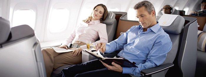 Flug-Ticketkauf: Günstig in die Business Class
