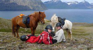 Bei einem Ausritt mit den Islandpferden kann Islands schöne Natur entdeckt werden