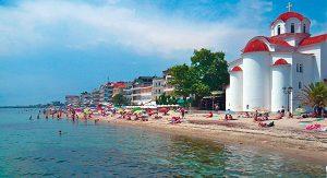 Olympische Riviera: Der Strand bei Paralia ist rund 3 km lang und bietet feinen Sand sowie azurblaues Wasser