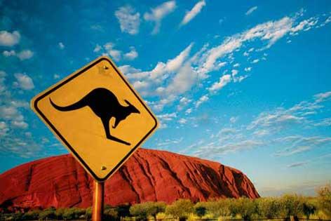 Australien Verkehrsschild