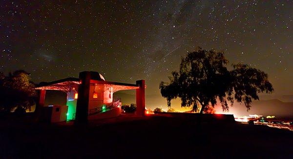 Sternenklarer Himmel in Chile: Das Observatorium Mamalluca bietet nachts Sternenbeobachtungen für Touristen an