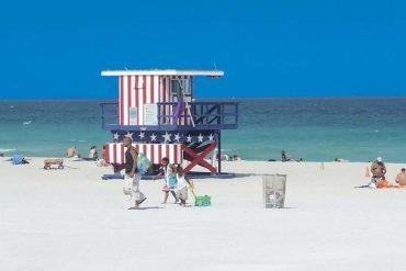 Miami Beach ist ein beliebter Badeort
