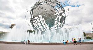 Einer der größten Parks in NYC, der Flushing Meadows Corona Park, war 1939 und 1964 Schauplatz der Weltausstellung.