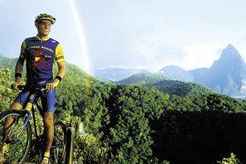 Saint Lucia: Bike-Trails führen durch den Dschungel vorbei an Ruinen aus dem 18. Jahrhundert