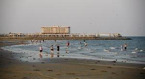 Die Strände von Texas laden zu langen Strandspaziergängen ein