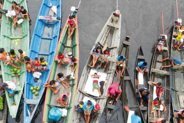 Abwechlungsreich: Tauschhandel von Schiff zu Schiff