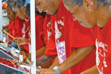 Steel Pans sind die Nationalinstrumente von Trinidad und Tobago.