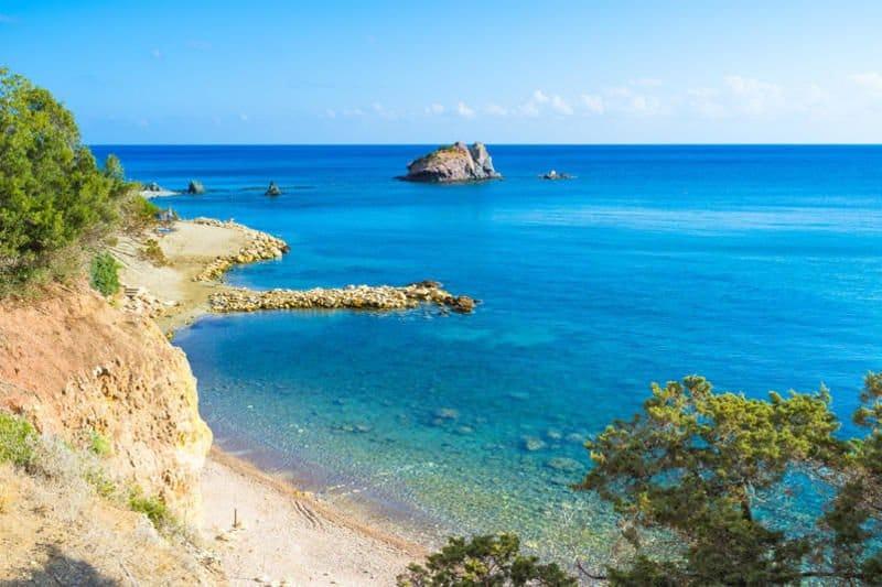 Eine malerische Bucht