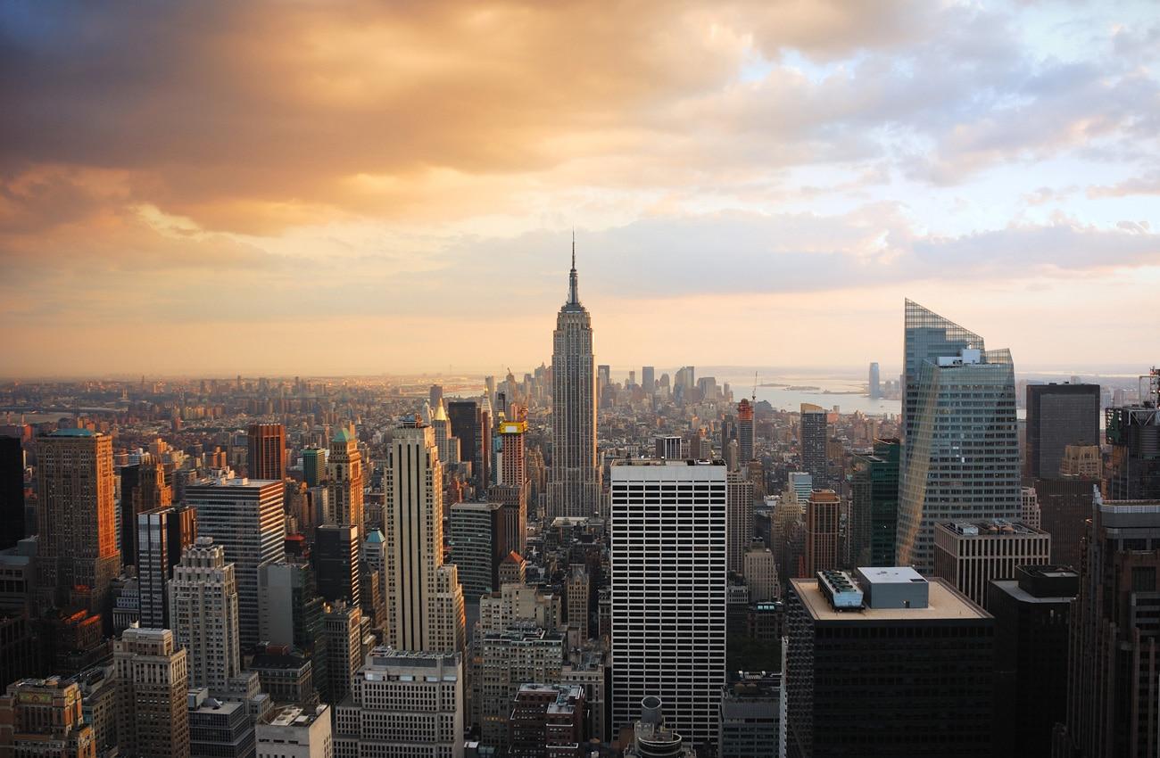Die New York - Skyline gehört zu den bekanntesten Aussichten der Welt.