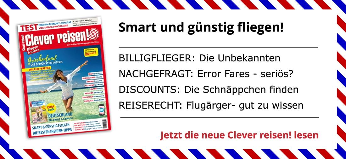 Aktuelle Ausgabe Clever reisen!