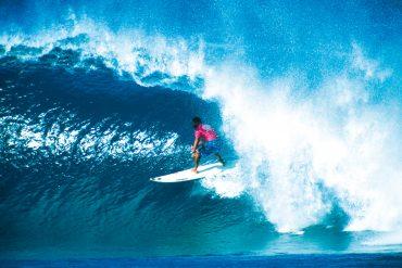 Die Wellen auf Hawaii laden zum Surfen ein.