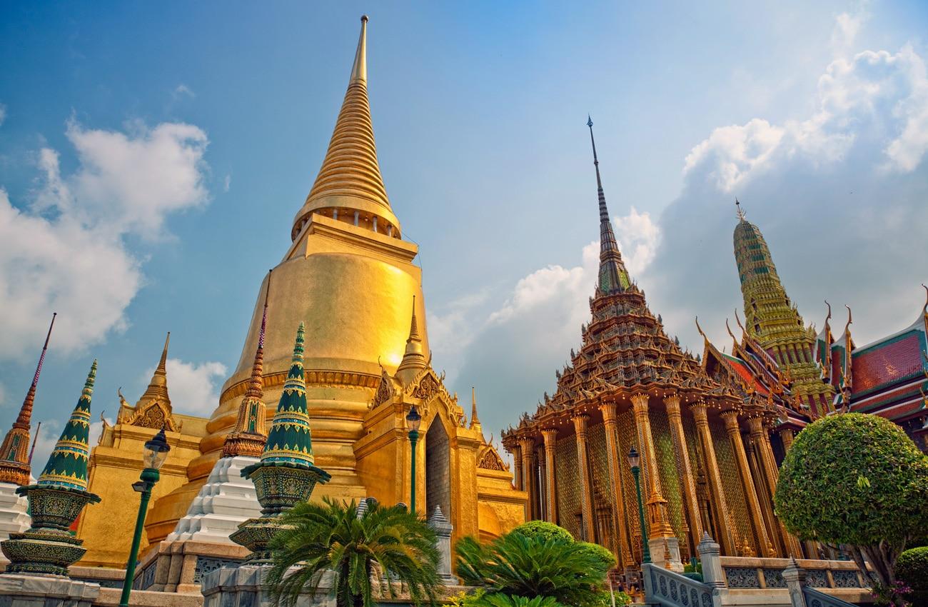 """Der königliche Tempel """"Wat Pho"""" befindet sich im Zentrum der historischen Altstadt von Bangkok - unmittelbar südlich des Königspalastes."""