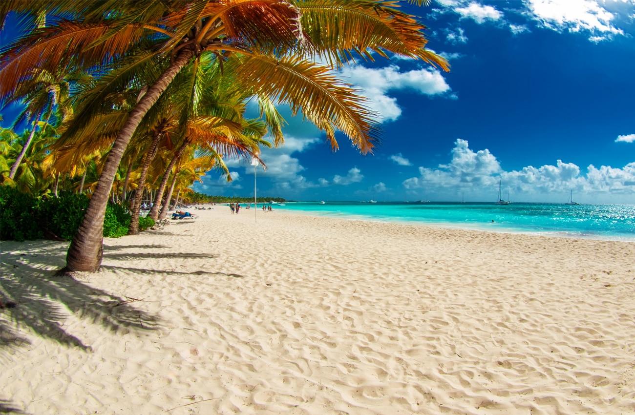 Tropical Beach in der Dominikanischen Republik. Karibische Meer. Saona islan
