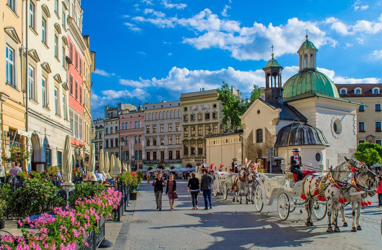 Der Markplatz ist ein Must-see in Krakau.