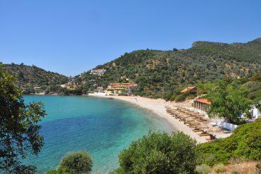 Wunderschönen Bucht auf der griechischen Insel Samos