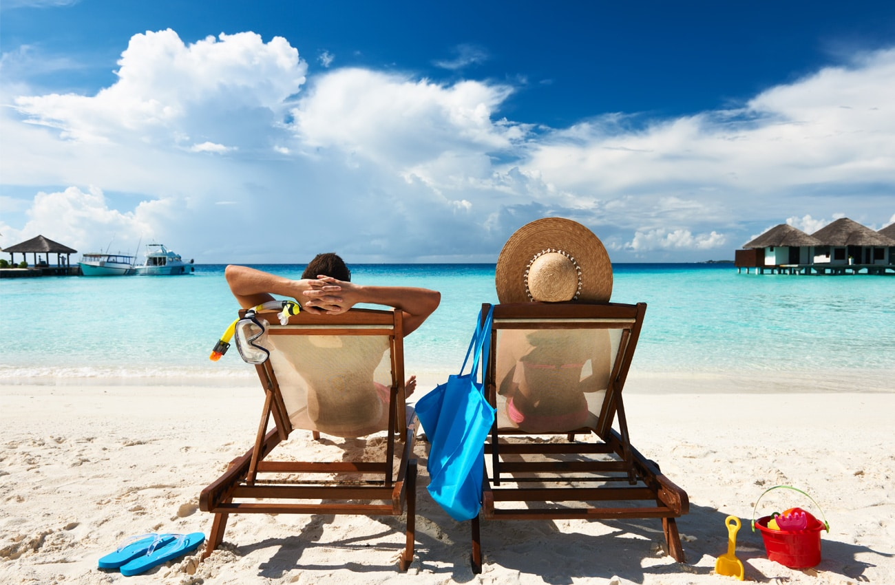 Entspannt am Strand trotz Jetlag
