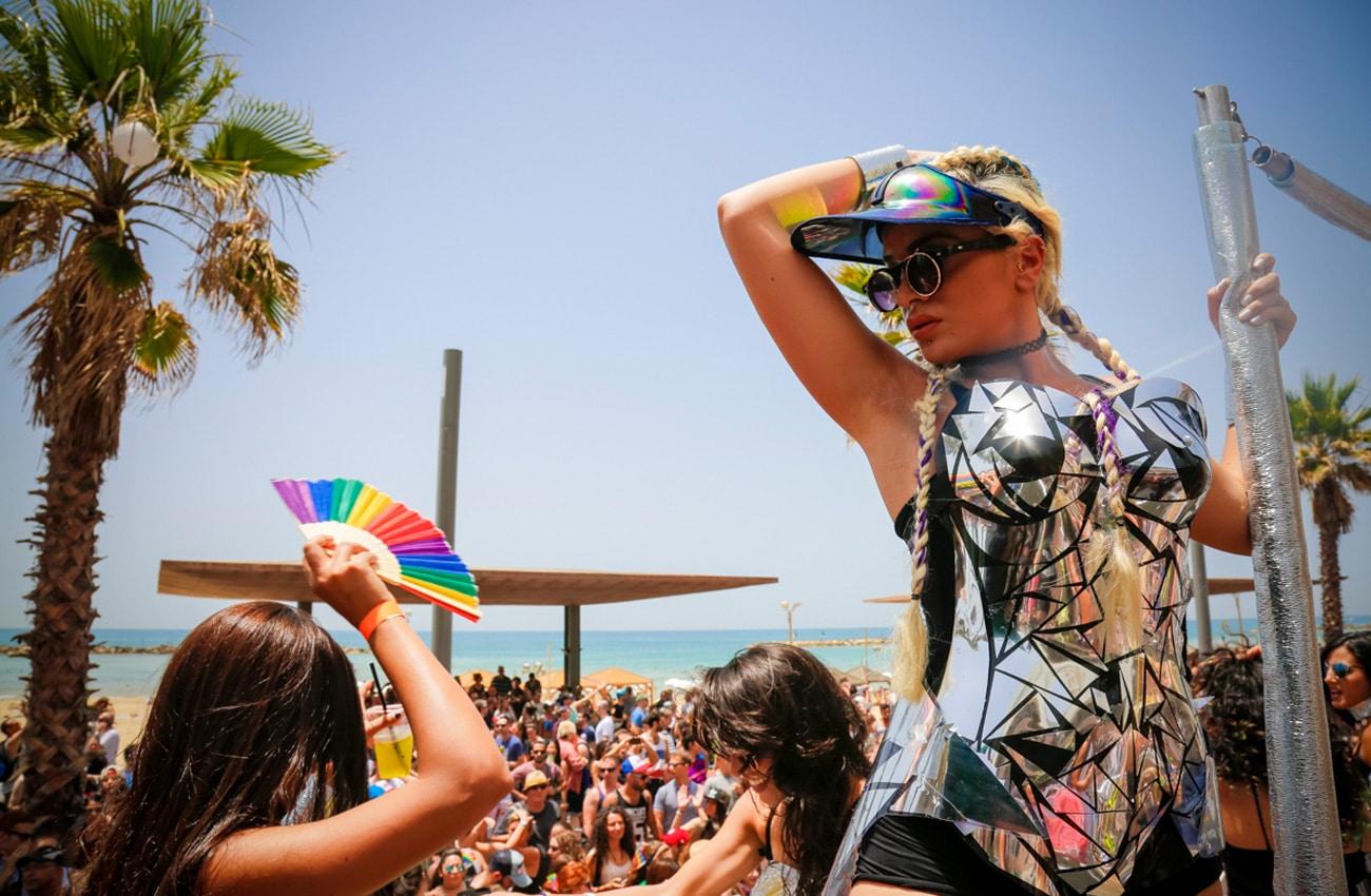 Feiern auf der Tel Aviv Pride Parade