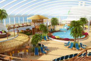 Beach Club auf der AIDAprima