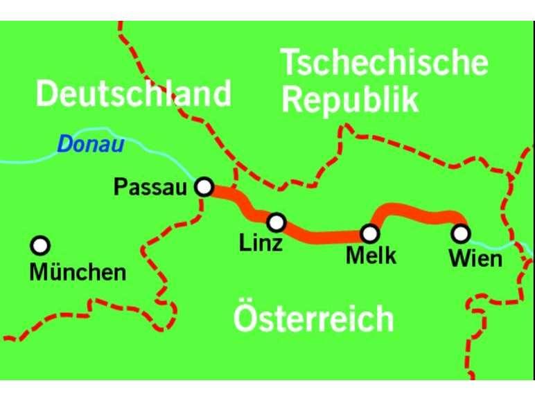 Donau-Flusskreuzfahrt - MS Prinzessin Isabella - Reiseverlauf