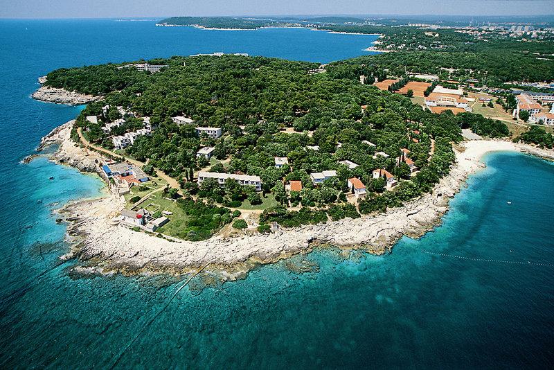 Verudela Beach & Verudela Villas - Lage auf einer Halbinsel