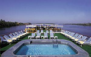 Nil-Kreuzfahrt - Premiumschiff-Außendeck