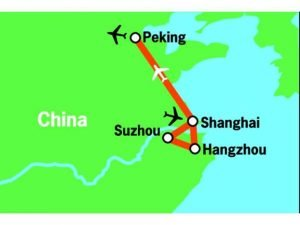 China Rundreise - Reiseverlauf