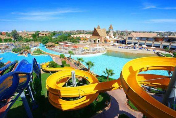 Der Wasserpark bietet Spaß und Action für Groß und Klein.