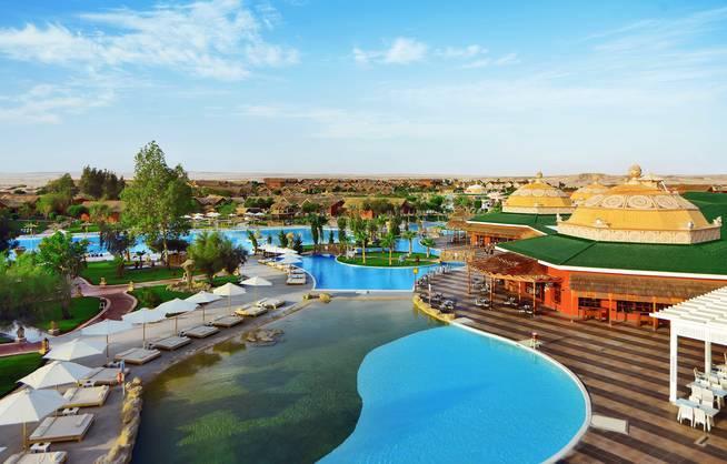 Hurghada - Jungle Aqua Park - Garten-/Poolanlage