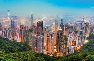 Honkong mit Skyline und Natur