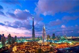 Skyline am Abend Dubai