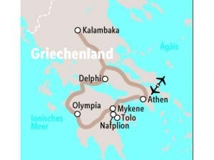 Griechenland - Reiseverlauf