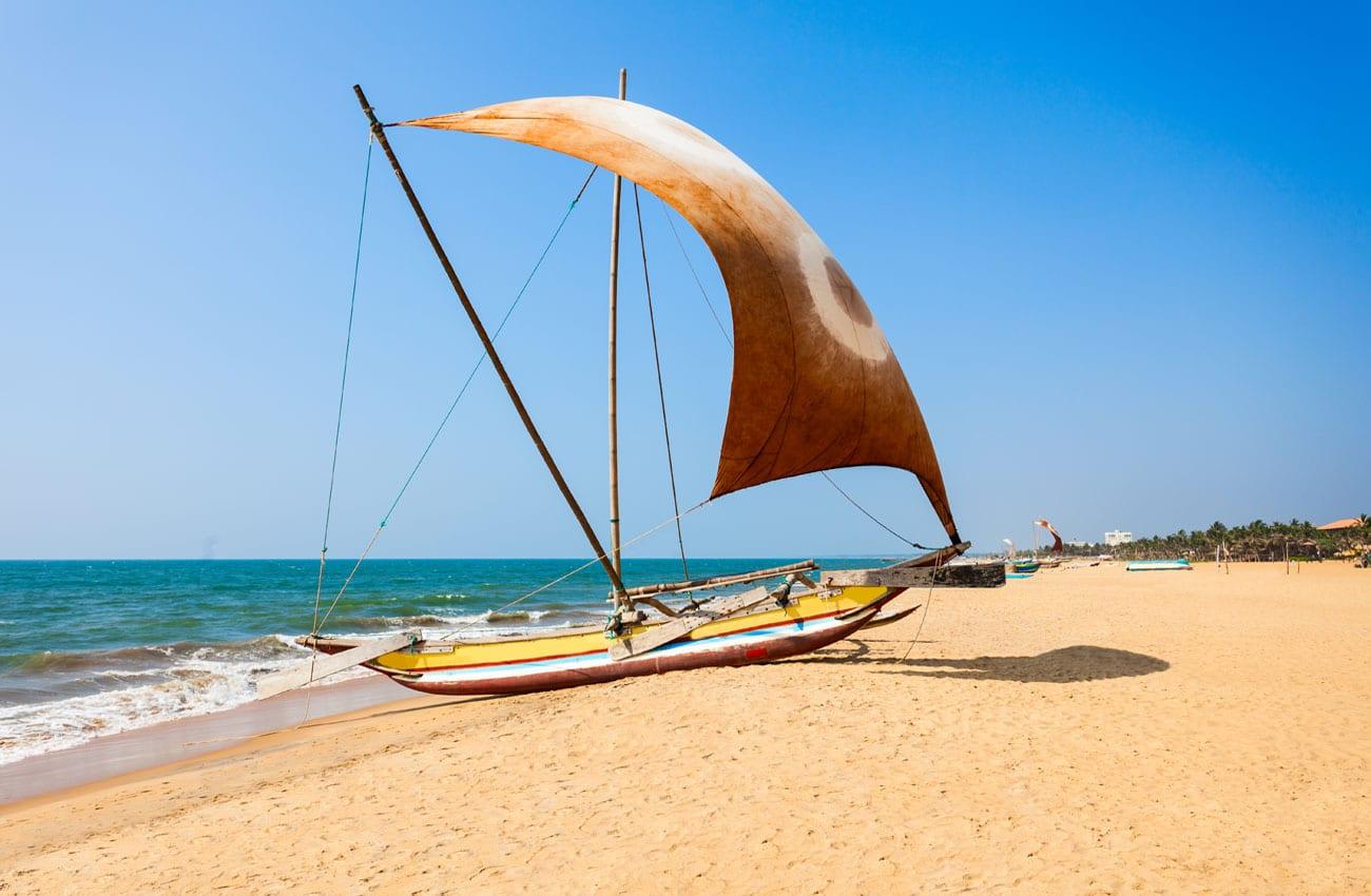 Die traditionellen Fischerboote lassen sich noch überall finden.