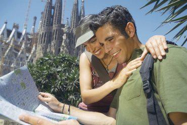 Paar in Barcelona