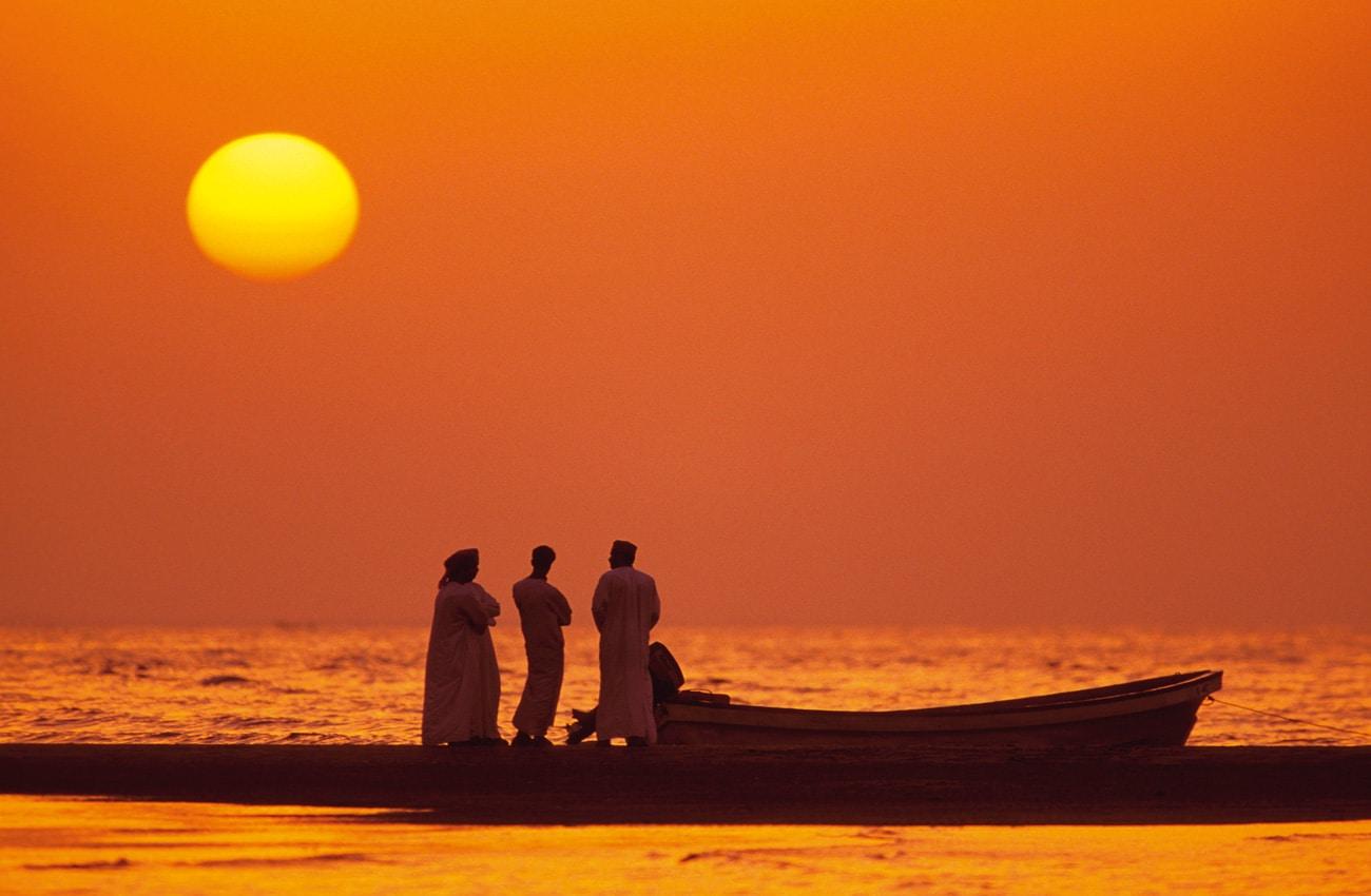 Sonnenuntergang an der omanischen Küste