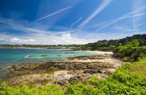 Küste von Guernsey