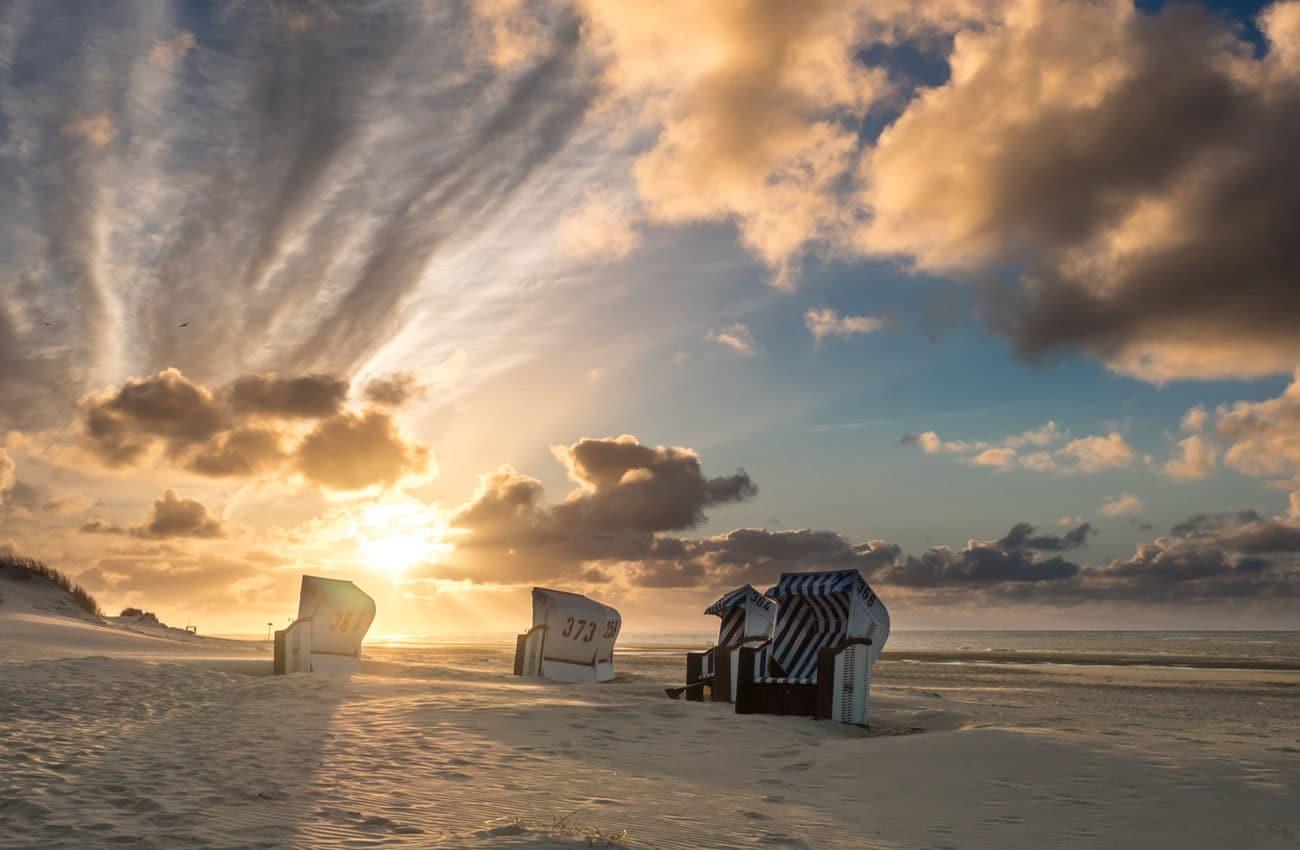 Einsamer Strand auf Spiekeroog