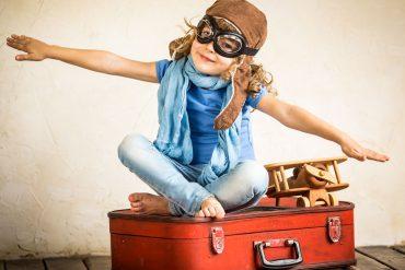 Kind als Pilotin