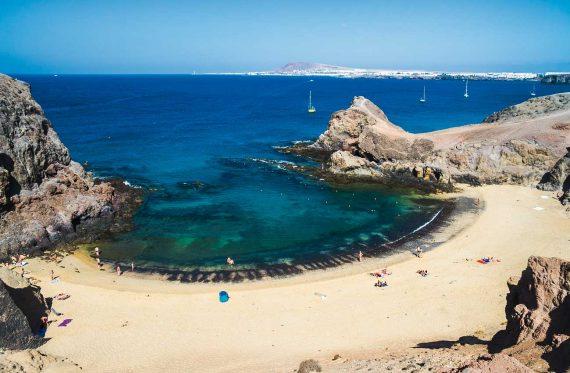 Bucht auf Lanzarote