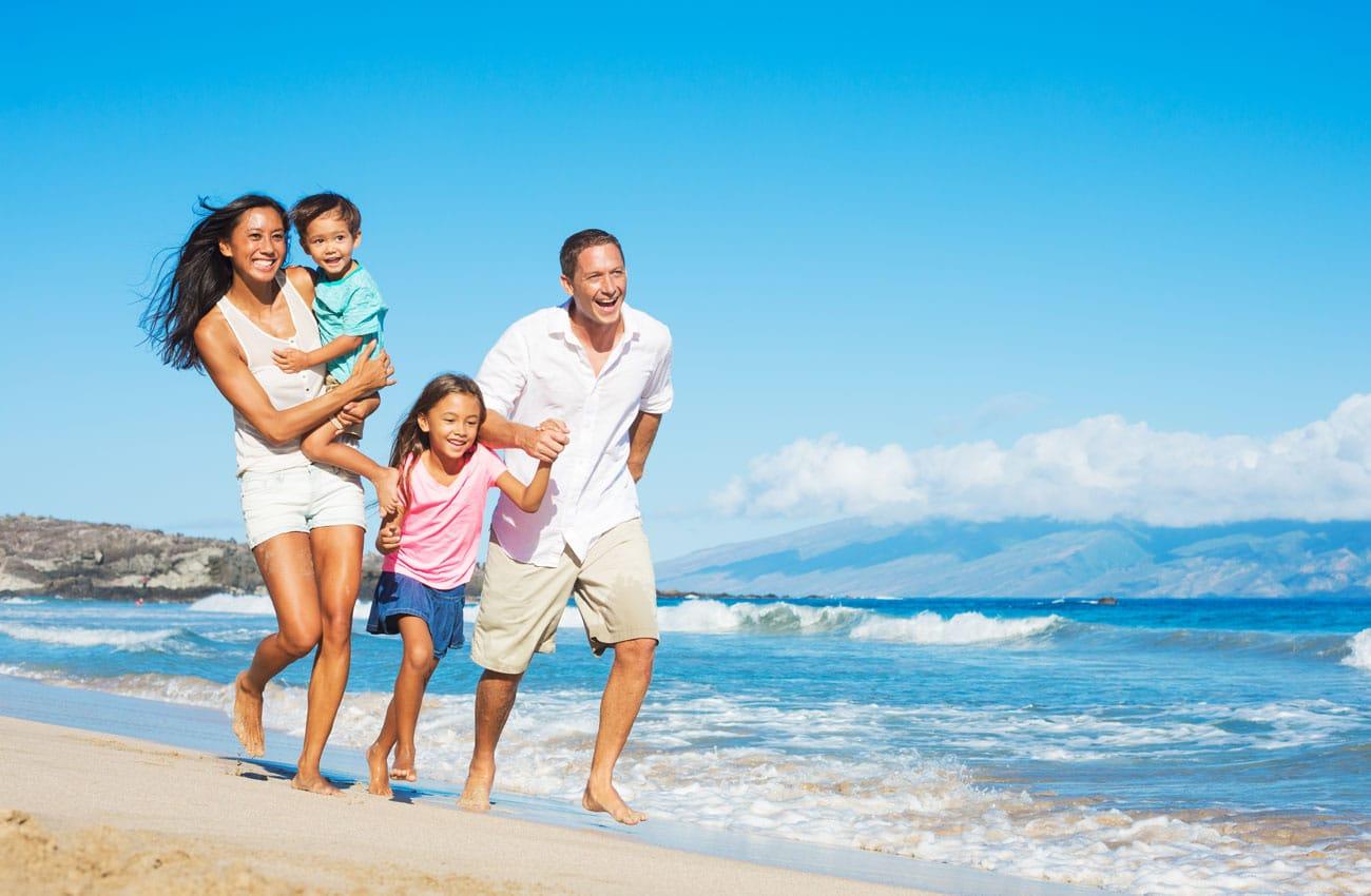 Familie im Urlaub