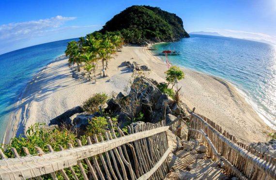 Strandabschnitt Philippinen