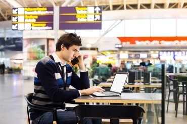 Nutzung von mobilen Endgeräten auf Reisen