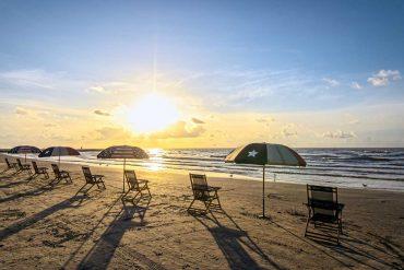Strandabschnitt auf Galveston Island
