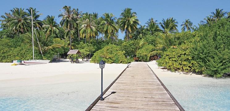Embudu Village - Süd Male Atoll - Weg zum Hausriff