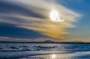 Punta Ballena Beach bei Sonnenuntergang, Uruguay