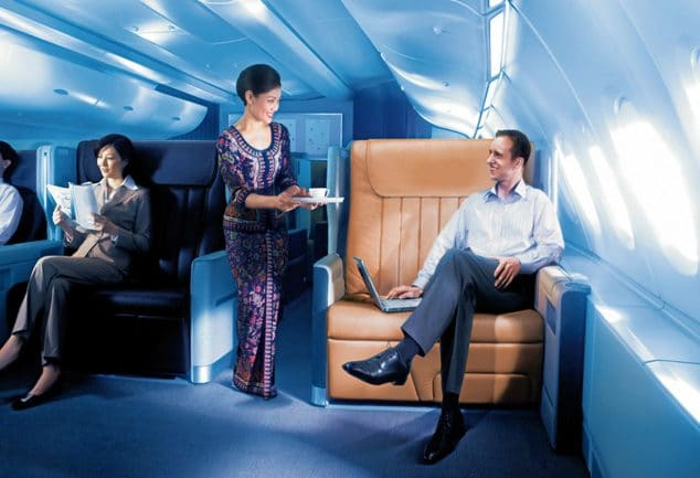 Upgrade in die Business Class